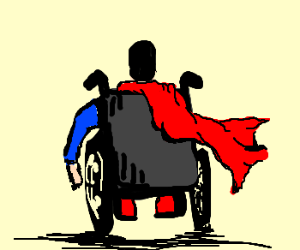 superman in chair