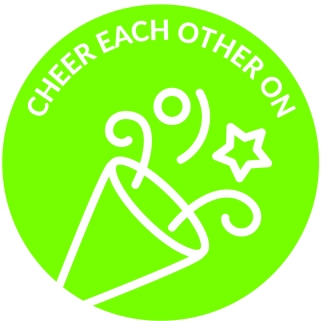 Power of One Principles Icons-Cheer Each Other On